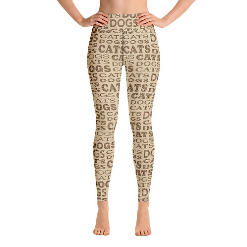 Women Yoga Cats And Dogs Type Leggings