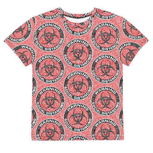 Youth All Over Social Distancing T-Shirt Red