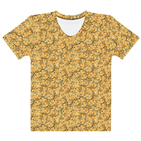 Women All Over Cryptocurrency Dogecoin T-Shirt