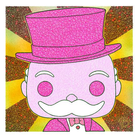 Pink Mr. Monopoly