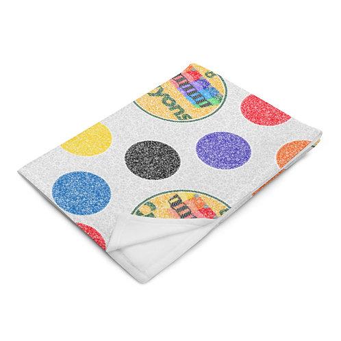 Crayon Polka Dots Throw Blanket