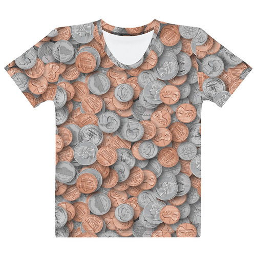 Women All Over Loose Change T-Shirt