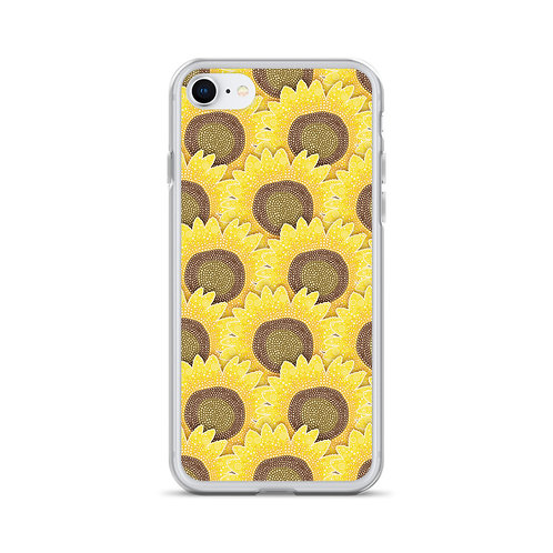 Rows Of Sunflowers iPhone Case