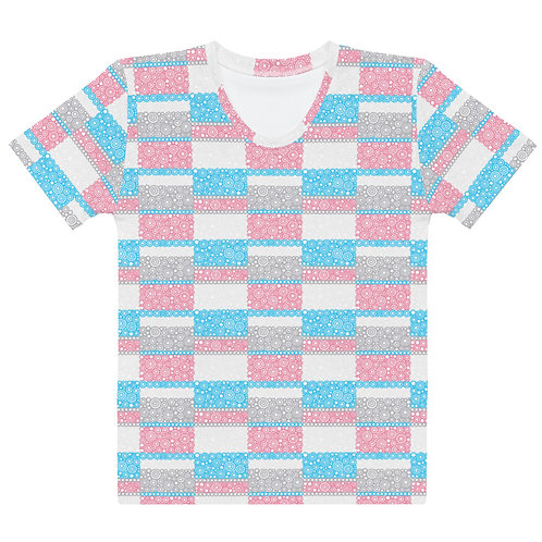 Women All Over Unity T-Shirt Blue And Pink