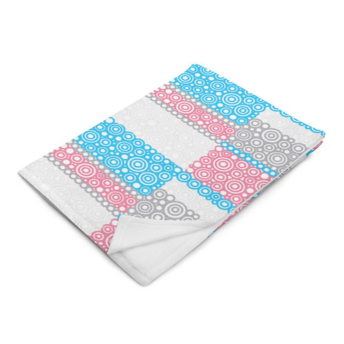 Unity Throw Blanket Blue And Pink