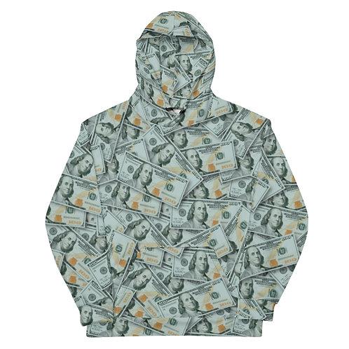 All Over 100 Dollar Bills Hoodie