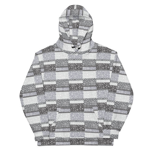 All Over Unity Hoodie Black And White