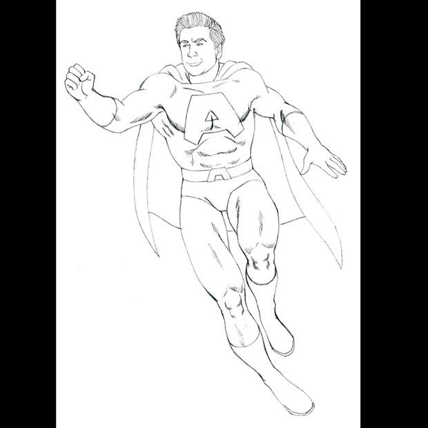 Alex Balwin As A Superhero