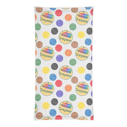 Crayon Polka Dots Neck Gaiter
