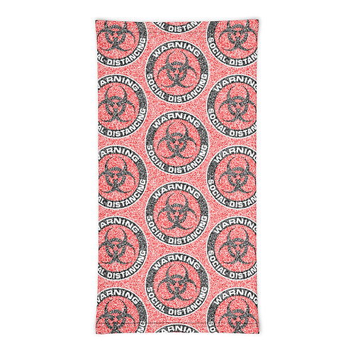 Social Distancing Neck Gaiter Red