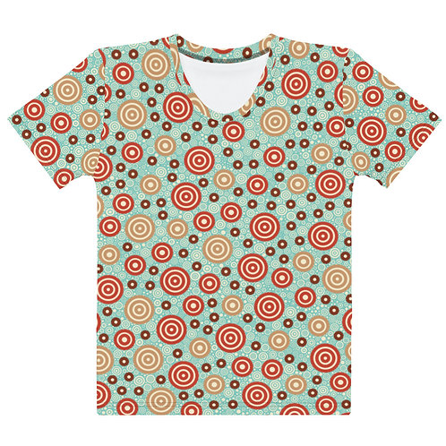 Women All Over Aztec Warrior T-Shirt Sky