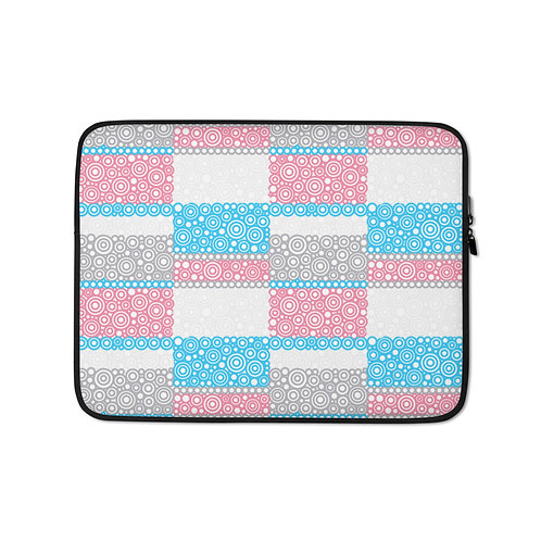 Unity Laptop Sleeve Blue And Pink