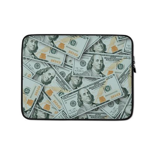 100 Dollar Bills Laptop Sleeve