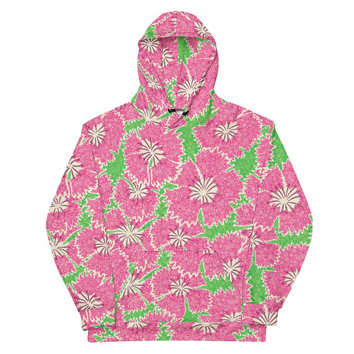All Over Dianthus Annuals Hoodie