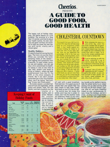 Cheerios Ad Seen In Newsweek Magazine