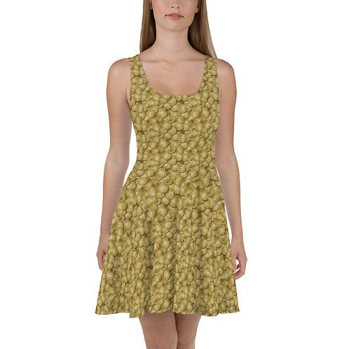 Cryptocurrency Bitcoin Skater Dress