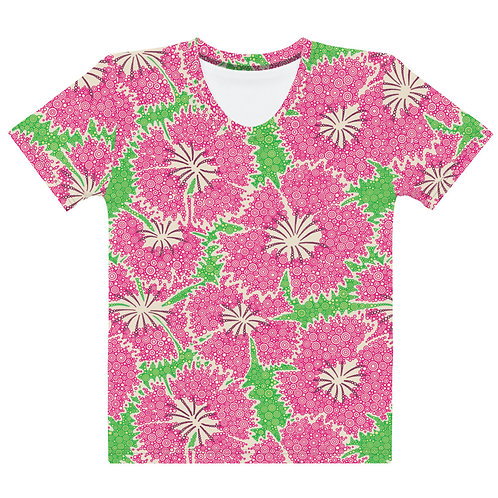 Women All Over Dianthus Annuals T-Shirt