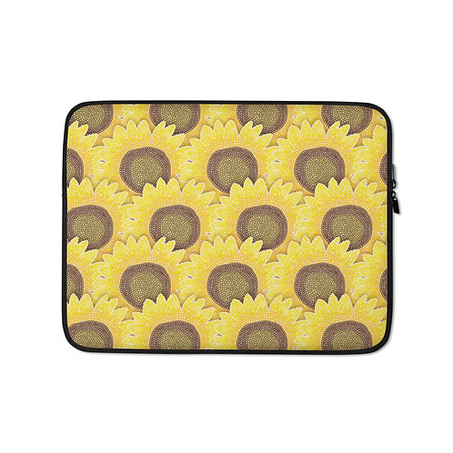 Rows Of Sunflowers Laptop Sleeve