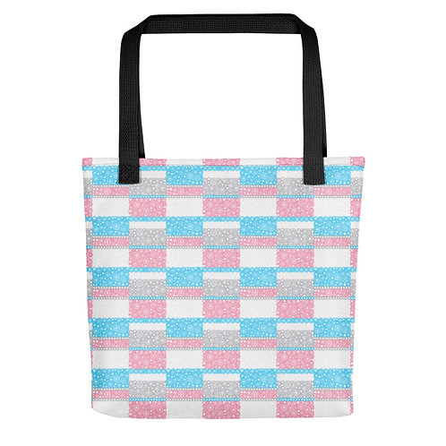 Unity Tote Bag Blue And Pink