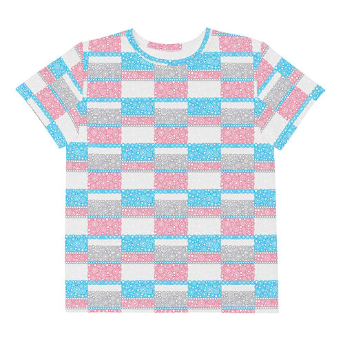 Youth All Over Unity T-Shirt Blue And Pink
