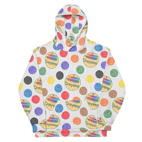 All Over Crayon Polka Dots Hoodie