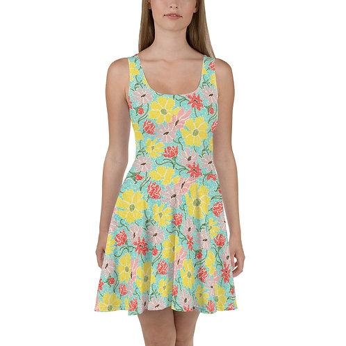 Spring Garden Skater Dress