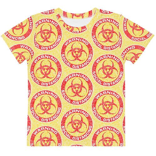 Kids Social Distancing T-Shirt Yellow