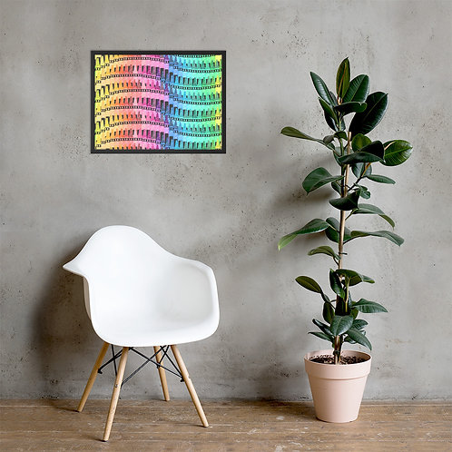 Rainbow Of Color Crayons Framed Poster
