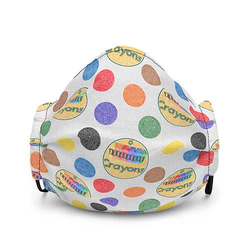 Crayon Polka Dots Premium Face Mask
