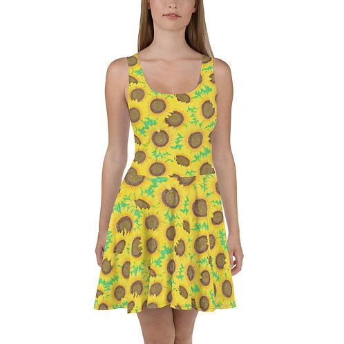 Sunflowers Skater Dress