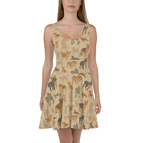 Cats And Dogs Skater Dress