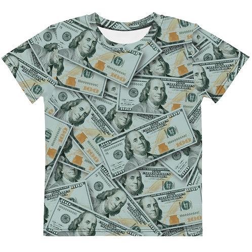 Kids 100 Dollar Bills Distancing T-Shirt