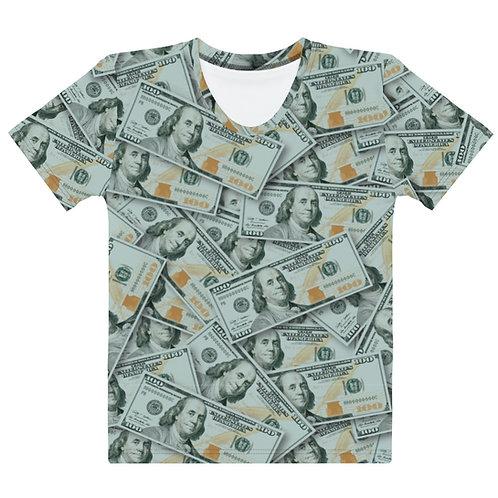 Women All Over 100 Dollar Bills T-Shirt