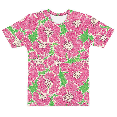 Men All Over Dianthus Annuals T-Shirt