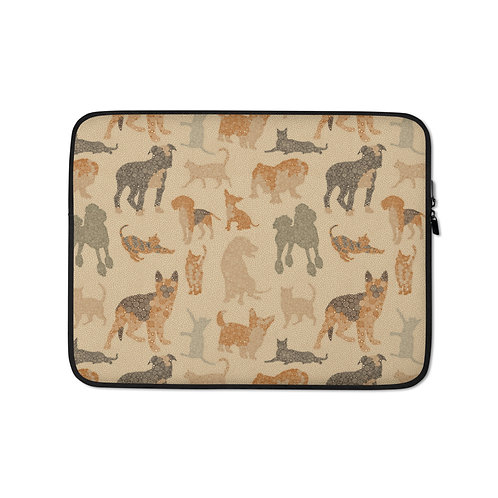 Cats And Dogs Laptop Sleeve