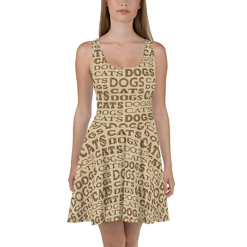 Cats And Dogs Type Skater Dress