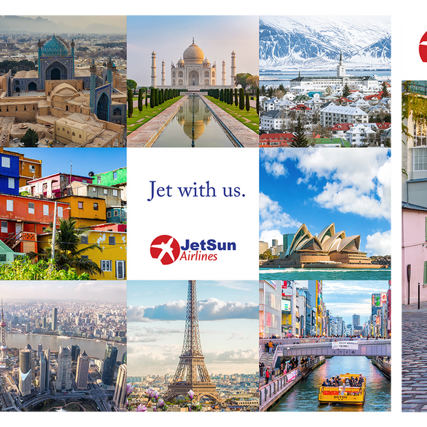 """Flyers for JetSun Airline (""""Dream"""")"""