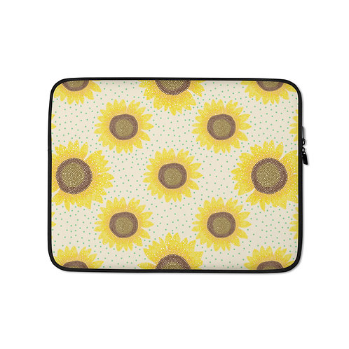 Sunflower Polka Dots Laptop Sleeve