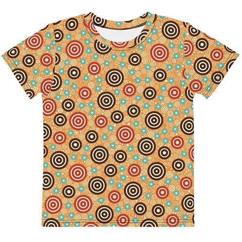 Kids Aztec Warrior T-Shirt Gold