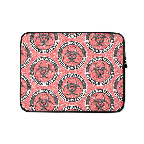 Social Distancing Laptop Sleeve Red