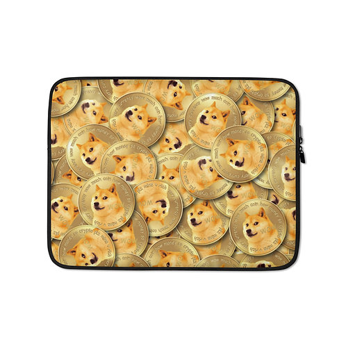 Cryptocurrency Dogecoin Laptop Sleeve