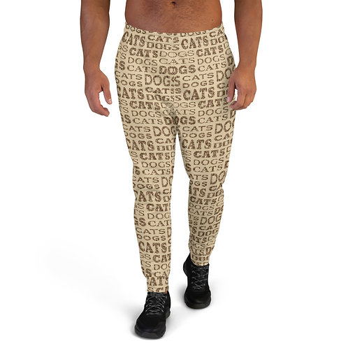 Men's Cats And Dogs Type Joggers