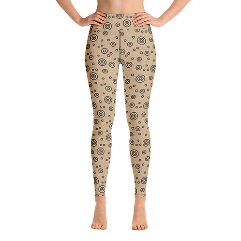 Women Yoga Cats And Dogs Circles Leggings