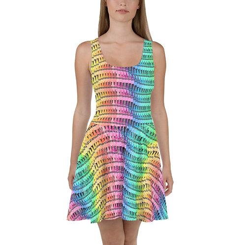 Crayons Skater Dress