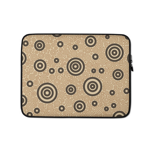 Cats And Dogs Circles Laptop Sleeve