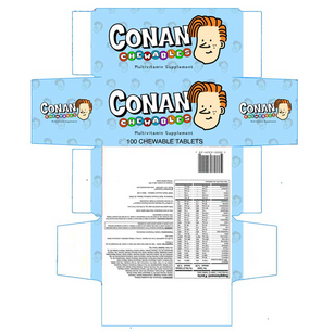 """Packaging for Conan Viitamin (""""Late Night"""" - NBC)"""