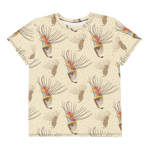 Youth All Over Aztec Warrior T-Shirt