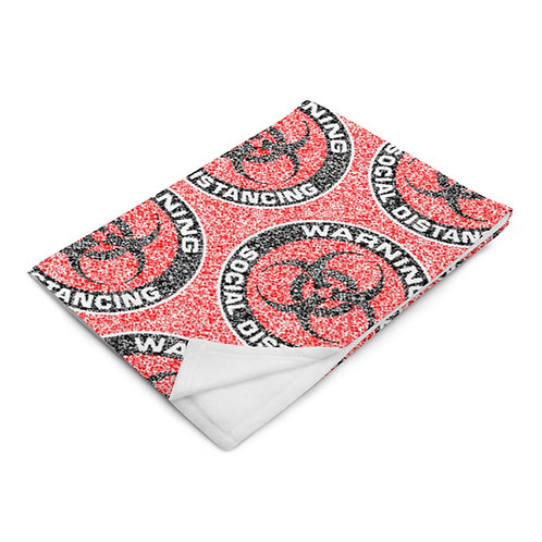 Social Distancing Throw Blanket Red