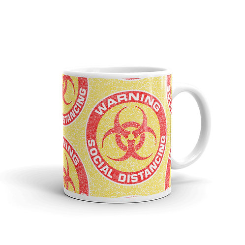 Social Distancing Mug Yellow