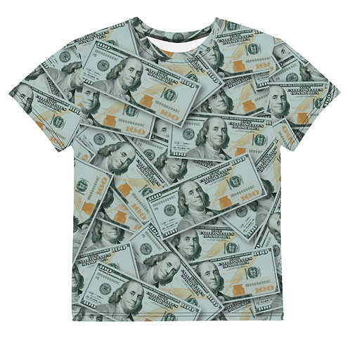 Youth All Over 100 Dollar Bills T-Shirt